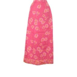 Vintage Lilly Pulitzer pink daisy skirt size 6